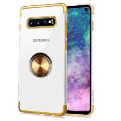 Samsung Galaxy S10 - Exklusivt Skal med Ringhållare Roséguld