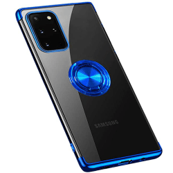 Samsung Galaxy S20 - Silikonskal med Ringhållare Roséguld