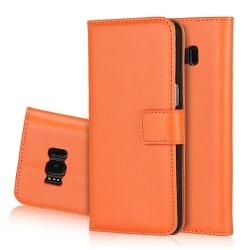 NORTH Plånboksfodral i läder för Samsung Galaxy S6 Edge Orange