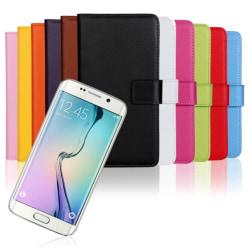 Samsung Galaxy S6 Edge - Stilrent Plånboksfodral från TOMKAS Orange