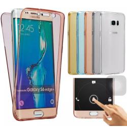 Samsung S6 Edge - Dubbelsidigt Silikonfodral (TOUCHFUNKTION) Blå