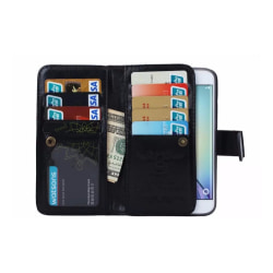 Samsung S6 Edge - LEMANS Stilrena Plånboksfodral i LÄDER Brun