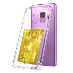 Stöttåligt Skal med Korthållare - Samsung Galaxy S9 Transparent/Genomskinlig