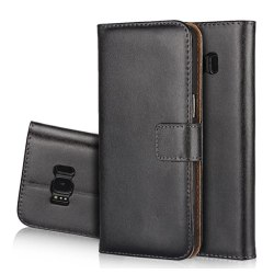 Plånboksfodral i Läder till Samsung Galaxy J7 (2017) Orange