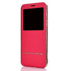Samsung Galaxy A7 2018 - Praktiskt Smartfodral (Svarsfunktion) Röd
