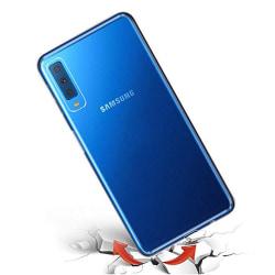 Samsung Galaxy A7 2018 - Floveme Silikonskal (RUFF-GRIP) Transparent/Genomskinlig