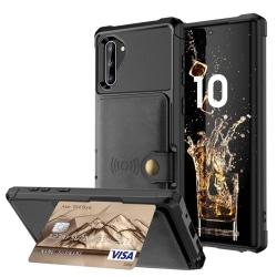 Samsung Galaxy Note10 - Skal med Kortfack Svart