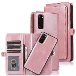 Samsung Galaxy S20 - Elegant Dubbelfunktions Plånboksfodral Roséguld
