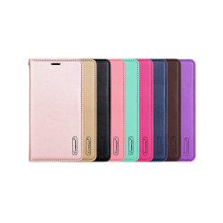 Samsung Galaxy S7 Edge - Plånboksfodral i PU-Läder av Hanman Roséguld