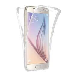 Samsung S7 Dubbelt Silikonfodral med TOUCHFUNKTION Genomskinlig