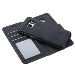 LEMAN Stilrent Plånboksfodral - Samsung Galaxy S7 Svart