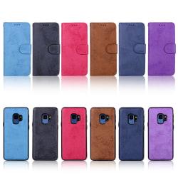 Plånboksfodral med Skalfunktion för Samsung Galaxy S9 Brun