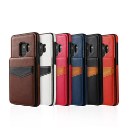 Samsung Galaxy S9 - Skal med Plånbok/Kortfack Vit