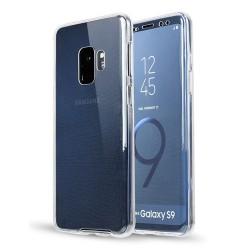 Silikonfodral med Touchsensor (Fram och Bak) Samsung Galaxy S9+ Transparent/Genomskinlig
