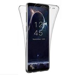 Silikonfodral med Touchsensor (Fram & Bak) S Galaxy A6 2018 Plus Transparent/Genomskinlig