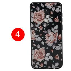 LEMAN Skal med Blom-motiv för Samsung Galaxy S9 Plus 4