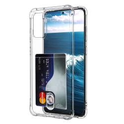 Skyddande Skal med Kortfack - Samsung Galaxy S20 Plus Transparent/Genomskinlig