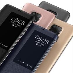 SMART-VIEW Fodral av NKOBEE för Huawei Mate 20 PRO Silver