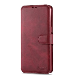 Smidigt Stilrent Plånboksfodral - Samsung Galaxy A20S Röd