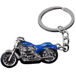 Stilsäker Motorcykel Nyckelring Blå