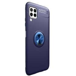 Stilsäkert Smidigt Skal med Ringhållare - Samsung Galaxy A12 Blå
