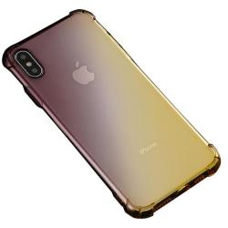 Stötdämpande Silikonskal (FLOVEME) - iPhone XS MAX Svart/Guld