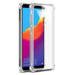 Huawei Y6 2018 - Skyddande Silikonskal Tjocka Hörn FLOVEME Transparent/Genomskinlig