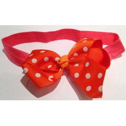 Hårband Orange med Rosett Orange