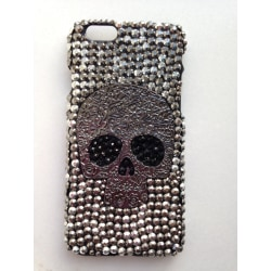 """Stilfullt Skal med Döskalle för iPhone 6 (4.7"""") Svart"""