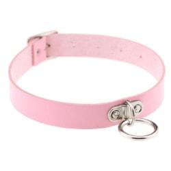 Choker O RING Collar O-ring ROSA Halsband Goth Harness Rosa