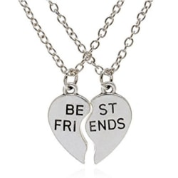 Halsband Best Friends Delat hjärta 2 halsband Partner/Kompis