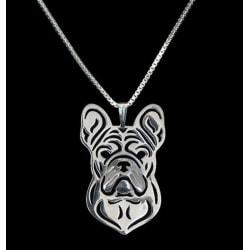 Halsband Bulldog Hund Djurälskare Dog Hundras Silver
