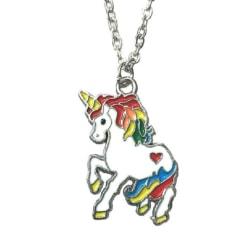 Halsband Enhörning Unicorn Regnbåge Sagoväsen Halsband MultiColor