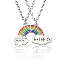 Halsband Kompis 2-delar Rainbow Pride Partner Best Friends multifärg