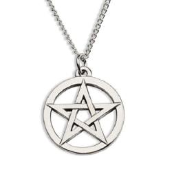 Halsband - Pentagram i tibetsilver - Wicca