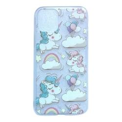 iPhone 11 Enhörning Unicorn Rosa Moln Sagoväsen Rosa
