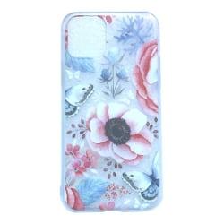 iPhone 11 Fjäril Blommor Rosa Grå Butterfly Leaf Blommor Växt multifärg