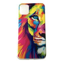 iPhone 11 Lejon Lion Kattdjur Färgglad multifärg