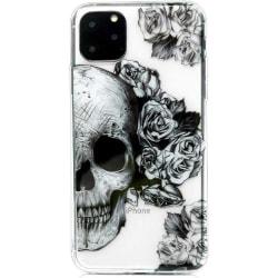 iPhone 11 PRO Dödskalle Skull Döskalle Goth Blommor Retro Svart