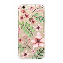 iPhone 7 Blommor Blad Växter Rosa/grön - Henna multifärg