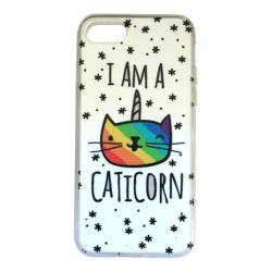 iPhone 7 Katt Enhörning Caticorn Sagoväsen Vit