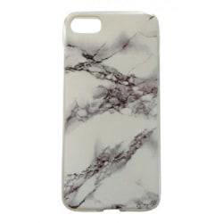 iPhone 7 - Marmor - Vit/grå - Marble Vit