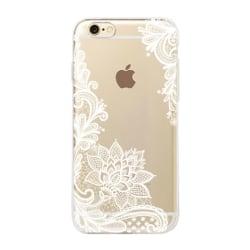 iPhone 7 PLUS Spets VIT Lace Henna Mandala Blommor Vit
