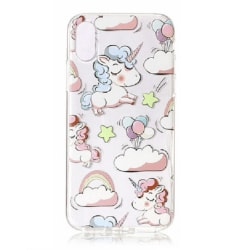 iPhone XR Enhörning Rosa Regnbåge Unicorn Rosa