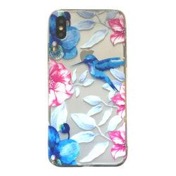 iPhone XR Kolibri Fågel Blommor Rosa/blå multifärg