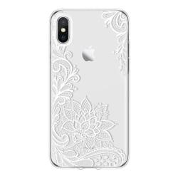 iPhone XR Spets VIT Mandala Lace Henna Blommor Vit