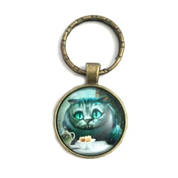 Nyckelring Cheshire Cat Cheshire katten Alice I Underlandet