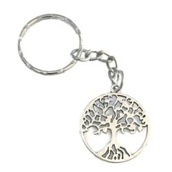 Nyckelring Livets Träd Tree Of Life Symbol Silverfärg Silver