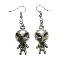 Örhängen Alien Arkiv X ET Silver Utomjording Silver