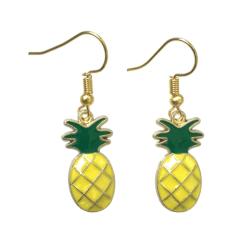 Örhängen Ananas Pineapple Guld Frukt Gul